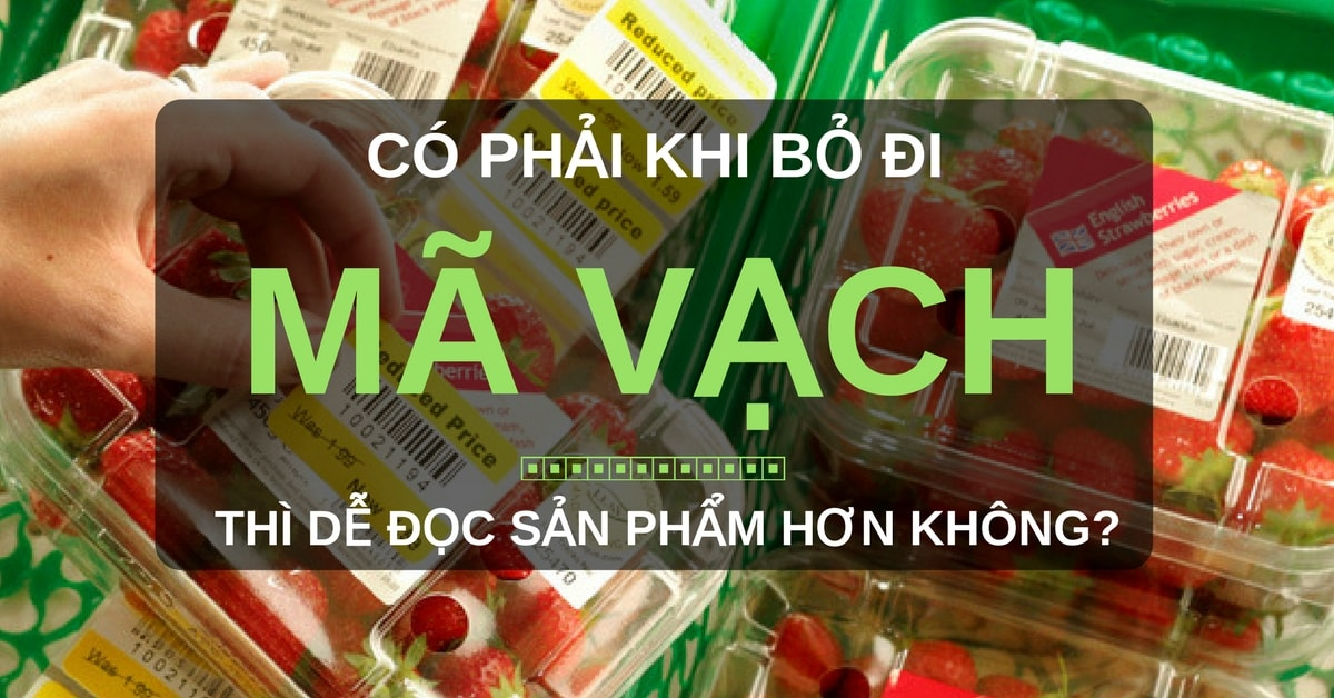 Sự cần thiết của mã vạch