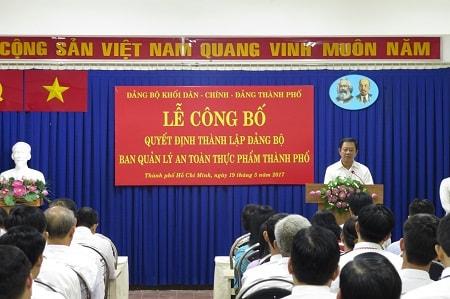 Đồng chí Dương Công Khanh phát biểu chỉ đạo của Ban thường vụ Đảng ủy Khối Dân – Chính - Đảng