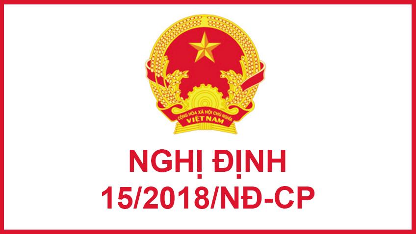 Nghị định số 15/2018/NĐ-CP